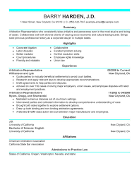 best arbitration representative resume example livecareer create my resume