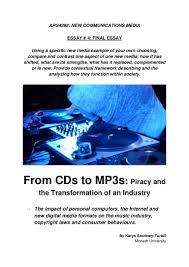 investigación del cd al mp3 piratería y transformación de una indus