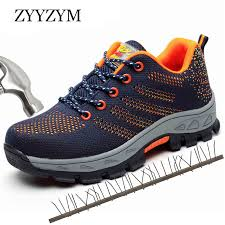 <b>ZYYZYM Men</b> Working Safety Boots Plus Size Outdoor Steel Toe ...