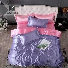 Lanlika Luxury Bedding Set Purpel Bedspread Double Flat Sheet ...