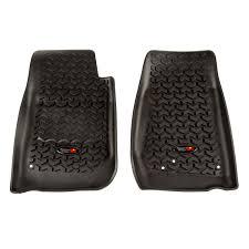 Terrain Floor Liner, <b>Front Pair</b>, <b>Black</b>; 07-18 Jeep Wrangler JK/JKU