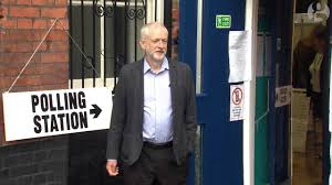 <b>Labour leader Jeremy Corbyn</b> on his way to vote - YouTube