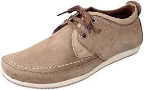 Marshal <b>Men's</b> Chikoo <b>Genuine</b> Leather Big Size <b>Casual Shoes</b> 11 ...
