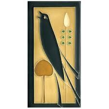 Motawi Tileworks <b>Golden Songbird</b> Facing Left Tile 4x8 - Detroit ...