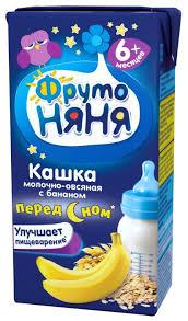 <b>Каша ФрутоНяня молочная овсяная</b> с бананом (с 6 месяцев) 200 ...