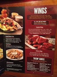 smokey bones menu prices meal items details cost smokey bones menu 3