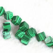 Искусственный Зеленый <b>Малахит</b>, <b>8 мм</b>, диагональная форма ...