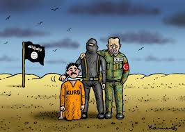 Image result for ERDOGAN FRIEND OF ISIS CARTOON