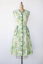 <b>Vintage</b> 1950s 50s Skirt Top   denim chambray cotton <b>2</b>-<b>pc set</b>   s/m ...