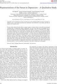 representations of the future in depression a qualitative study