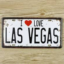home decor plate x: lkb x  wall pictures license plates car number quot i love las vegas quot home decor wall art craft vintage iron for bar x cm