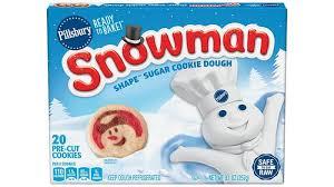 Pillsbury™ <b>Shape</b>™ <b>Snowman</b> Sugar Cookie Dough - Pillsbury.com
