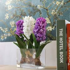 <b>1 PCS Artificial</b> Flower Hyacinth with Bulb Home Garden Decoration ...
