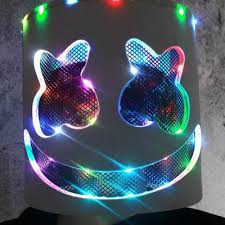 <b>DJ LED</b> Full Face <b>Marshmello</b> Mask Luminous Latex Mask Party ...