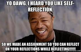 Yo dawg, I heard you like self-reflection. So we made an ... via Relatably.com