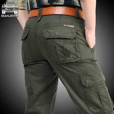 Cargo Jeans Men <b>Big Size</b> 29 40 42 Casual Military Multi pocket ...