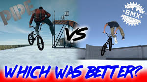 BMX STREETS <b>DEMO</b> 1 VS BMX STREETS <b>PIPE</b> - YouTube