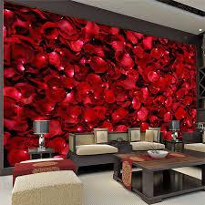 room elegant wallpaper bedroom: romantic rose petals wall mural d photo wallpaper elegant wallpaper love room decor kids bedroom ceiling