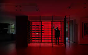 modern in denver large minimalist wine cellar photo in new york with display racks chic minimalist wine cellar design decorated