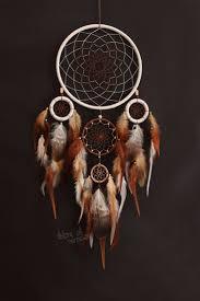 Dream catcher Dreamcatcher Protective amulet White <b>Brown Beige</b> ...