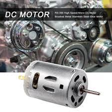 <b>RS</b>-<b>385 High</b> Speed Micro DC Motor Brushed Metal Stainless Steel ...