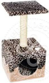 Дом-<b>когтеточка для кошек</b> Major <b>Foxie</b> Леопард 40*40*60см ...
