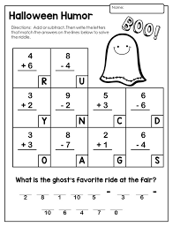 Halloween Math Activities - Primary Theme ParkHalloween Math Activities for Kindergarten and First Grade