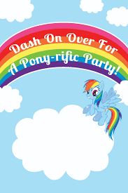 must have ideas for your my little pony party printable my little pony invitation