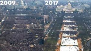 Image result for inauguration crowd size