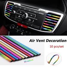 <b>10pcs</b>/<b>set</b> U-shaped Car Styling Decorative Molding Strip Tape <b>Air</b> ...