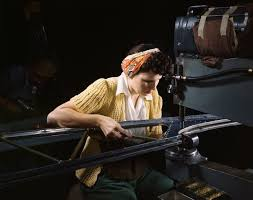 file a girl riveting machine operator at the douglas aircraft file a girl riveting machine operator at the douglas aircraft company plant joins sections of
