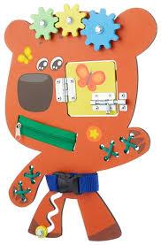Купить <b>Бизиборд</b> BUSY KIDS <b>Ми</b>-<b>ми</b>-<b>мишки Кеша</b> оранжевый по ...