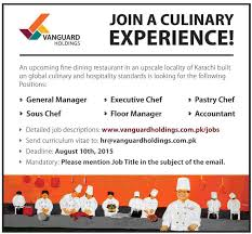 general manager chefs accountant and other posts vacant get jobs in email