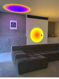LED <b>Floor Lamp Rainbow Sunset</b> Light Decoration Lampshade ...