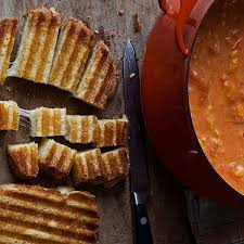 Easy Tomato Soup & Grilled Cheese Croutons - Barefoot Contessa