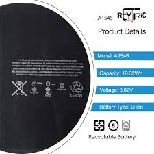 Electronics Batteries REYTRIC <b>A1546</b> Battery Compatible iPad Mini ...