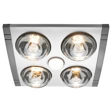 bathroom heaters exhaust fan light: heller in ducted bathroom heater exhaust fan light silver bathroom heater