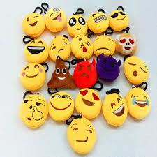10pcs/lot New 6cm Cute Emoji Smiley Emoticon Amusing Key Chain ...