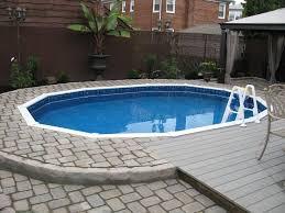 patio designs pool materials semi inground pool landscaping ideas semi inground pool pictures