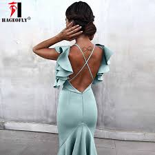 2019 New Sky Blue Women Fashion Office Lady <b>Sexy Strapless</b> Off ...