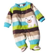 <b>Autumn</b>/<b>Winter Baby Rompers</b> Clothes Newborn Boy Girl Polar ...