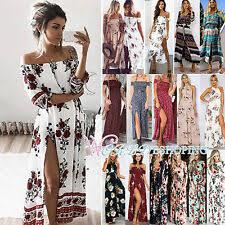 <b>Boho Maxi Dresses</b> for <b>Women</b> for sale | eBay