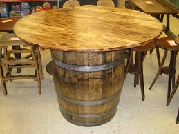 furniture made from barrels image of whiskey barrel table and chairs barrel office barrel middot