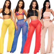 Boho, женские, с оборками, сетчатые, широкие, <b>брюки, для</b> ...
