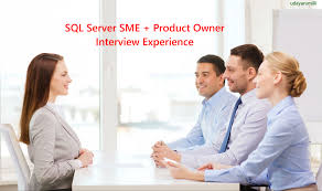 an interview experience microsoft sql server sme interview experience