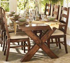 pottery barn style dining table: pottery barn toscana dining set so comfy and casual without the extension would
