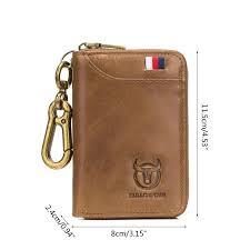 Women <b>Men Genuine Leather</b> Car Keychain Card Holder Wallet ...