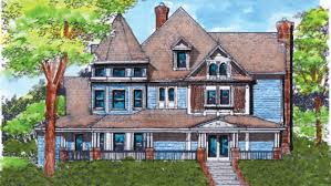 Victorian House Plans and Victorian Designs at BuilderHousePlans comVictorian Style House   Plan HWBDO