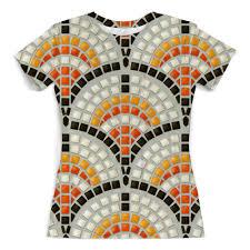 Футболка с полной запечаткой (женская) Античная <b>Мозаика</b> ...