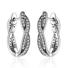 925 Sterling Silver Pendant Fashion Earrings Jewelry For Women ...